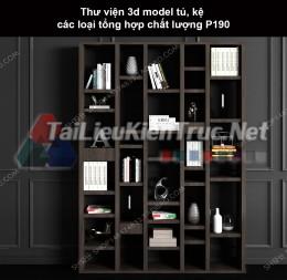 Thư viện 3d model tủ, kệ các loại tổng hợp chất lượng P190