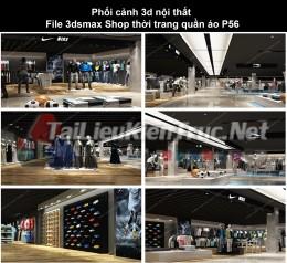 Phối cảnh 3d nội thất File 3dmax Shop thời trang quần áo p56