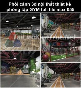 Phối cảnh 3d nội thất Thiết kế phòng tập GYM full file max 055