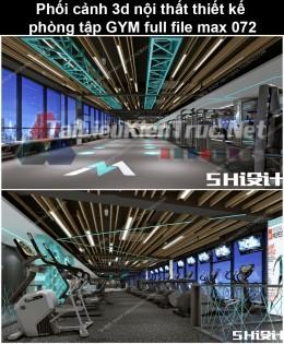 Phối cảnh 3d nội thất Thiết kế phòng tập GYM full file max 072