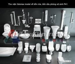 Thư viện 3dsmax model về bồn rửa, bồn cầu phòng vệ sinh P41