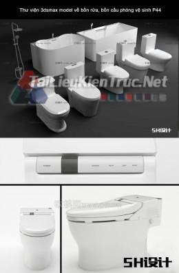 Thư viện 3dsmax model về bồn rửa, bồn cầu phòng vệ sinh P44