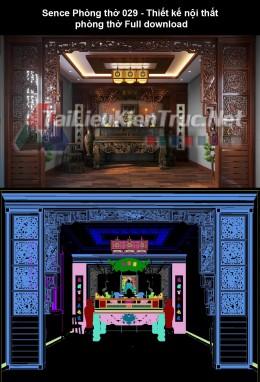 Sence Phòng thờ 029 - Thiết kế nội thất phòng thờ Full download