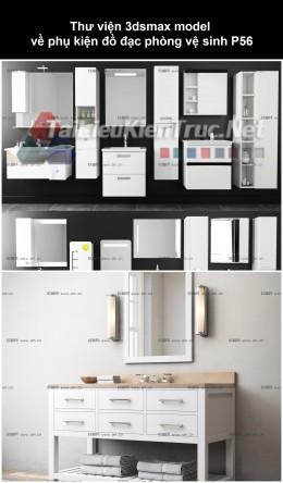 Thư viện 3dsmax model về phụ kiện đồ đạc phòng vệ sinh P56
