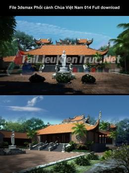 File 3dsmax Phối cảnh Chùa Việt Nam 014 Full download