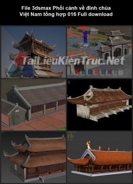 File 3dsmax Phối cảnh về đình chùa Việt Nam tổng hợp 016 Full download