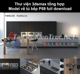 Thư viện 3dsmax tổng hợp Model về tủ bếp P59 full download