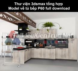 Thư viện 3dsmax tổng hợp Model về tủ bếp P60 full download