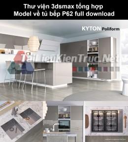 Thư viện 3dsmax tổng hợp Model về tủ bếp P62 full download