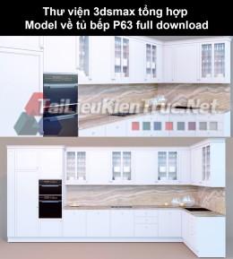 Thư viện 3dsmax tổng hợp Model về tủ bếp P63 full download