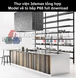 Thư viện 3dsmax tổng hợp Model về tủ bếp P68 full download