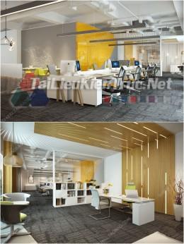 Phối cảnh 3d thiết kế nội thất văn phòng 08 full download