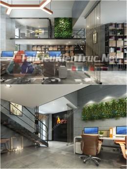 Phối cảnh 3d thiết kế nội thất văn phòng 011 full download