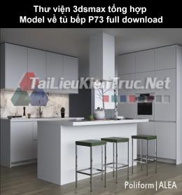 Thư viện 3dsmax tổng hợp Model về tủ bếp P73 full download