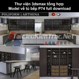 Thư viện 3dsmax tổng hợp Model về tủ bếp P74 full download