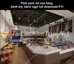Phối cảnh 3d cửa hàng bánh mỳ, bánh ngọt full download P11