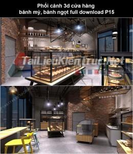 Phối cảnh 3d cửa hàng bánh mỳ, bánh ngọt full download P15