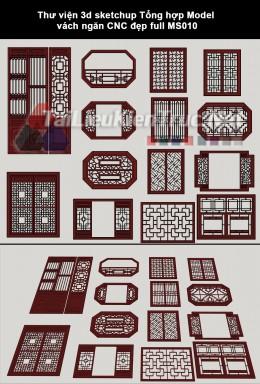 Thư viện 3d sketchup Tổng hợp Model vách ngăn CNC đẹp full MS010