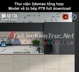Thư viện 3dsmax tổng hợp Model về tủ bếp P79 full download