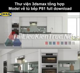 Thư viện 3dsmax tổng hợp Model về tủ bếp P81 full download
