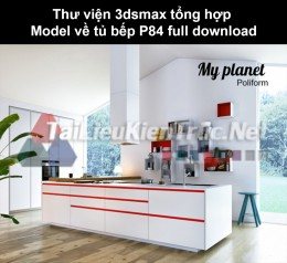 Thư viện 3dsmax tổng hợp Model về tủ bếp P84 full download