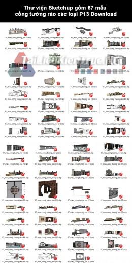 Thư viện Sketchup gồm 67 mẫu cổng tường rào các loại P13 Download