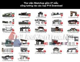 Thư viện Sketchup gồm 27 mẫu cổng tường rào các loại P14 Download