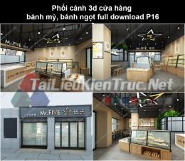 Phối cảnh 3d cửa hàng bánh mỳ, bánh ngọt full download P16
