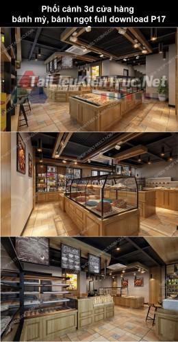 Phối cảnh 3d cửa hàng bánh mỳ, bánh ngọt full download P17