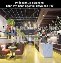 Phối cảnh 3d cửa hàng bánh mỳ, bánh ngọt full download P19