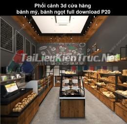 Phối cảnh 3d cửa hàng bánh mỳ, bánh ngọt full download P20