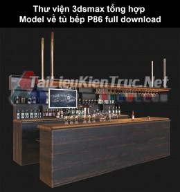 Thư viện 3dsmax tổng hợp Model về tủ bếp P86 full download