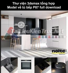 Thư viện 3dsmax tổng hợp Model về tủ bếp P87 full download