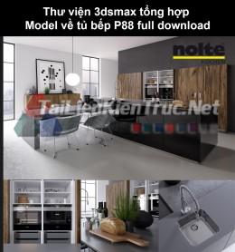 Thư viện 3dsmax tổng hợp Model về tủ bếp P88 full download