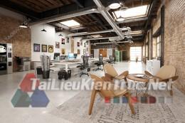 Phối cảnh 3d thiết kế nội thất văn phòng 023 full download