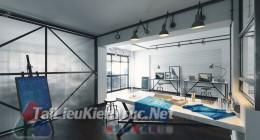 Phối cảnh 3d thiết kế nội thất văn phòng 026 full download