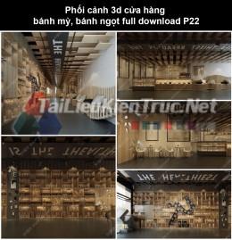 Phối cảnh 3d cửa hàng bánh mỳ, bánh ngọt full download P22