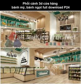 Phối cảnh 3d cửa hàng bánh mỳ, bánh ngọt full download P24