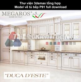 Thư viện 3dsmax tổng hợp Model về tủ bếp P91 full download