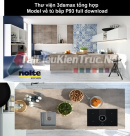 Thư viện 3dsmax tổng hợp Model về tủ bếp P93 full download