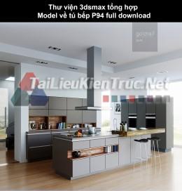 Thư viện 3dsmax tổng hợp Model về tủ bếp P94 full download