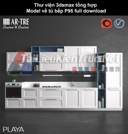 Thư viện 3dsmax tổng hợp Model về tủ bếp P95 full download