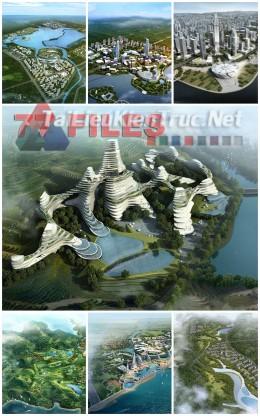 Thư viện Photoshop ghép phối cảnh công trình quy hoạch kiến trúc gồm 77 file ảnh chất lượng cao