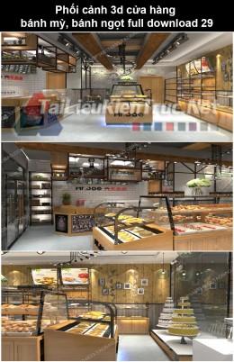 Phối cảnh 3d cửa hàng bánh mỳ, bánh ngọt full download P29