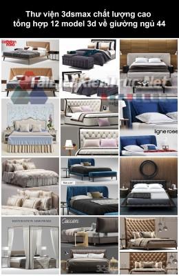 Thư viện 3dsmax chất lượng cao tổng hợp 12 Model 3d về Giường ngủ 44
