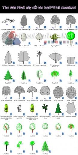 Thư viện Revit cây cối các loại P3 full download
