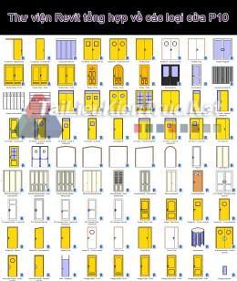 Thư viện Revit tổng hợp về các loại cửa P10