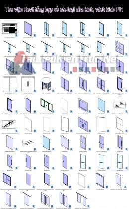 Thư viện Revit tổng hợp về các loại cửa kính, vách kính P11
