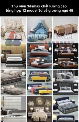 Thư viện 3dsmax chất lượng cao tổng hợp 12 Model 3d về Giường ngủ 45