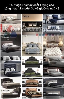 Thư viện 3dsmax chất lượng cao tổng hợp 12 Model 3d về Giường ngủ 48